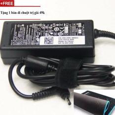 Sạc laptop dell 19.5v-3.34a đầu đạn chân nhỏ+Tặng bàn di chuột
