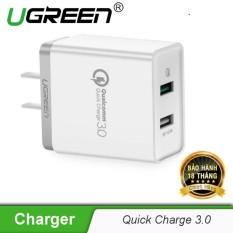 Sạc nhanh hỗ trợ 2 cổng QuickCharge 3.0 UGREEN CD132 30563 (30920) – Hãng phân phối chính thức