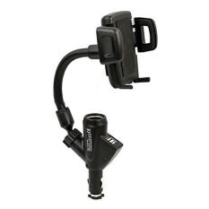 Sạc xe hơi 2 cổng USB kiêm giá đỡ điện thoại TLC SXH001 (Đen)