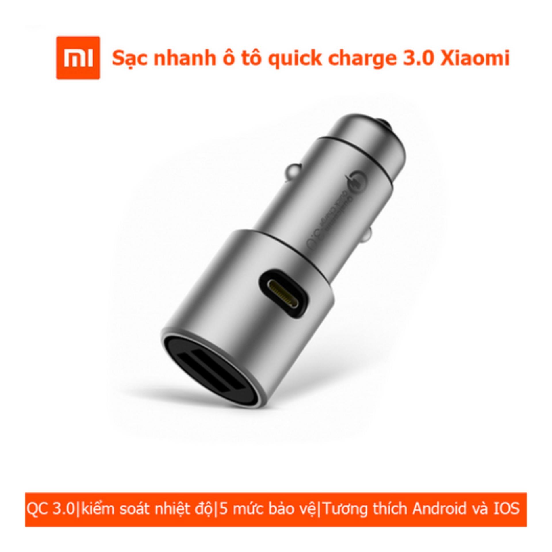 Sạc Xe Hơi Quick Charge 3.0 Xiaomi new 2017 (sạc nhanh)