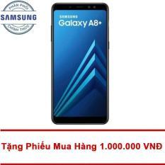"""Trang bán Samsung Galaxy A8+ 64Gb Ram 6Gb 6"""" (Đen) – Tặng Mã Giảm Giá 1.000.000 VNĐ – Hãng phân phối chính thức"""