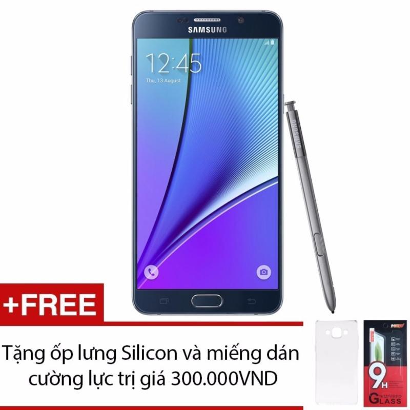 Samsung Galaxy Note 5 N920 32GB (Đen) + Ốp lưng Silicon và Miếng dáng cường lực - Hàng nhập khẩu