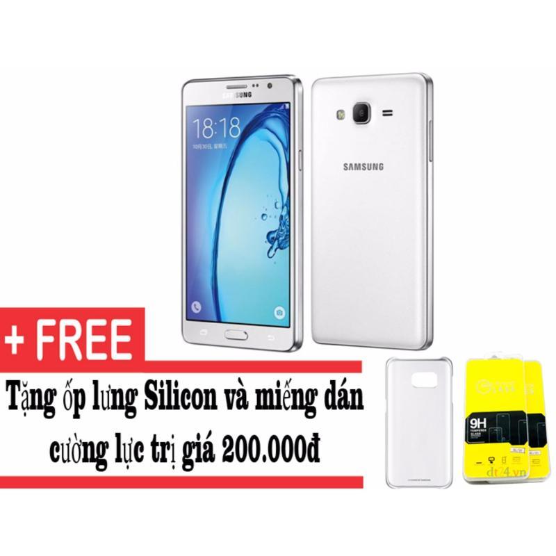 Samsung Galaxy On7 8GB (Trắng) - Hàng nhập khẩu + Tặng kèm ốp lưng và dán cường lực