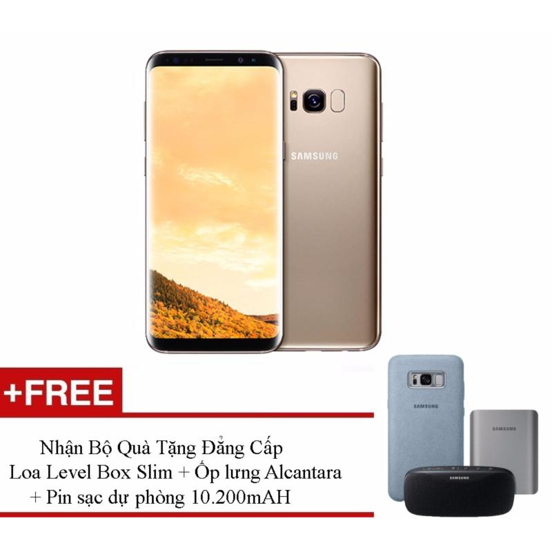 Samsung Galaxy S8 64G Ram 4GB 5.8inch (Vàng hổ phách) + Tặng loa Bluetooth + Ốp lưng Alcantara + Pin sạc dự phòng 10200mah -  Hàng phân phối chính hãng