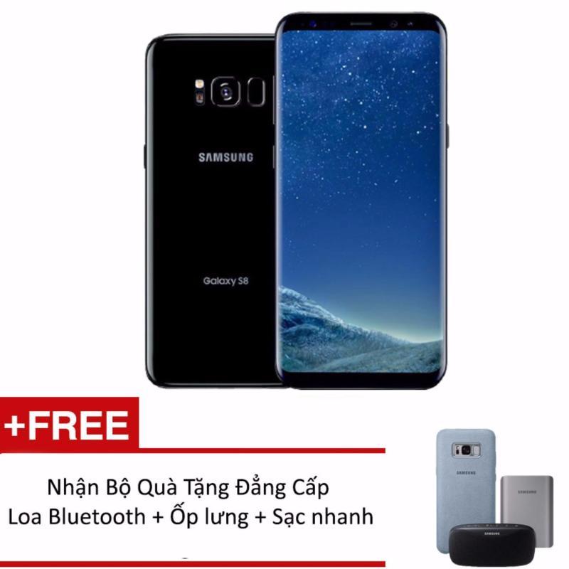 Samsung Galaxy S8 Plus 64G Ram 4GB 6.2inch (Đen) + Tặng loa Bluetooth + Ốp lưng Alcantara + Sạc nhanh không dây - Hàng phân phối chính hãng