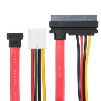 SATA 7+15Pin to 4Pin IDE Power + 7Pin M SATA Converter Adapter Cable – intl dưới x triệu
