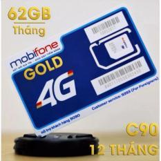Địa Chỉ Bán Sim 10 số 4G MOBI C90 Chuẩn Gold. Tặng 62GB và 43.000 phút miễn phí/tháng.
