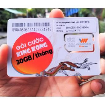 SIM 3G King Kong Vietnamobile 30GB/tháng (1Gb/ngày duy trì 50k)