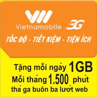 Sim 3G Vietnamobile ưu đãi data Khủng +1.500 phút gọi