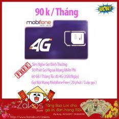 Sim 4G / 3G Mobifone Nghe Gọi Free và 60GB/Tháng Tốc độ 4G