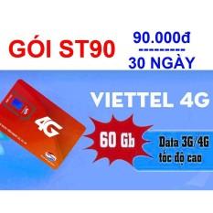Sim 4G Viettel gói cước SIÊU TỐC 90 (2Gb/ngày, 90k/tháng)
