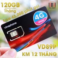 SIM 4G Vinaphone VD89P 120GB/Tháng + Miễn Phí 43.000 Phút gọi/tháng