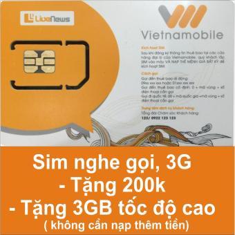 Sim nghe gọi 3G Vietnamobile tặng 3GB tốc độ cao miến phí