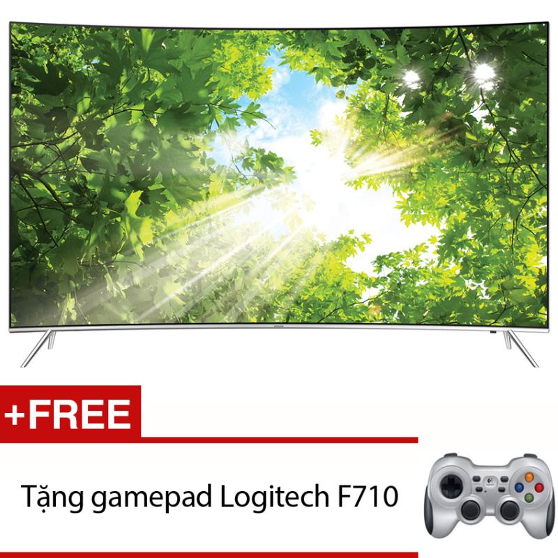 Bảng giá Smart Tivi Curve LED Samsung 55inch 4K – ModelUA55KS7500KXXV (Đen) + Tặng gamepad Logitech F710