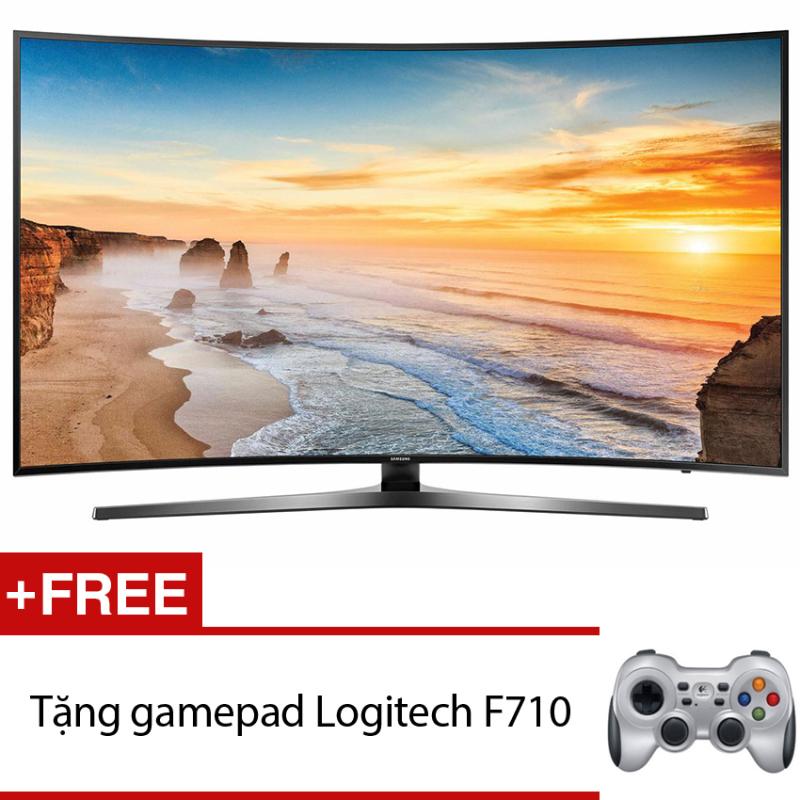 Bảng giá Smart Tivi Curve LED Samsung 65inch 4K – Model UA65KU6500KXXV (Đen) + Tặng gamepad Logitech F710