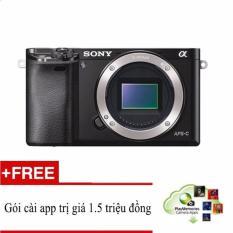 Giá Khuyến Mại Sony A6000 24.3MP Body (Đen) + Hỗ trợ cài miễn phí gói App Collection + Túi Sony + Thẻ nhớ 16gb + Dán màn hình