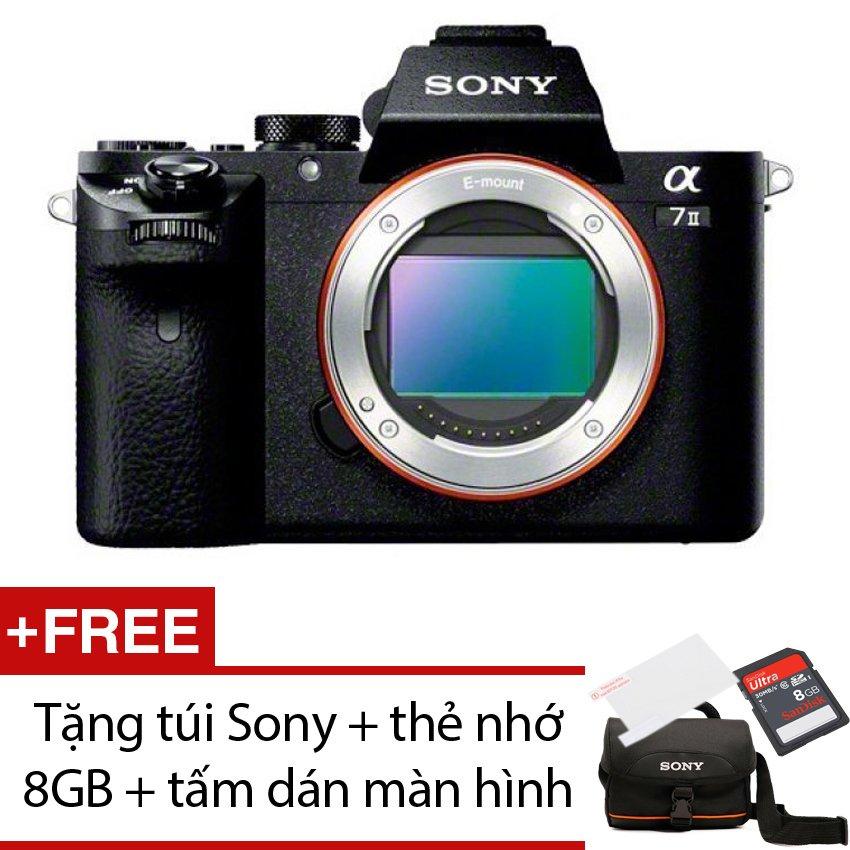 Sony Alpha A7 mark II 24.3MP Body (Đen) + Tặng 1 túi Sony , 1 thẻ nhớ 8GB , 1 tấm dán màn hình
