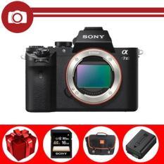 Sony Alpha A7 mark II 24.3MP Body (Đen) – Tặng thẻ nhớ Sony 16GB, túi đựng máy, pin Wasabi FW-50