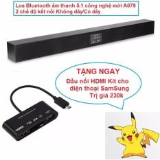 Soundbar Bluetooth âm thanh 5.1 THẾ HỆ MỚI A079 + Tặng kem đầu nối OTG HDMI Kit cho điện thoại