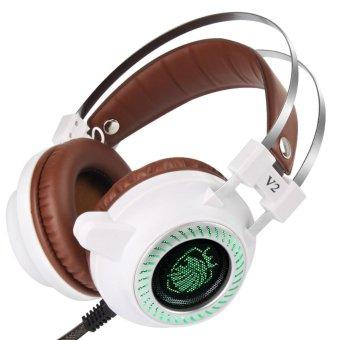 Stereo V2 LED Light Hi-Fi Gaming Headset (Grey) - intl