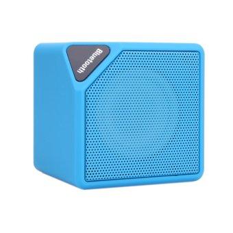 Stylish Stero Bluetooth V3.0 Mini Speaker Box with TF Card Slot(Blue) - intl
