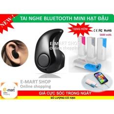 Tai nghe Bluetooth mini hạt đậu (Đen) + Tặng Pin sạc dự phòng siêu khủng 5600mAh xịn