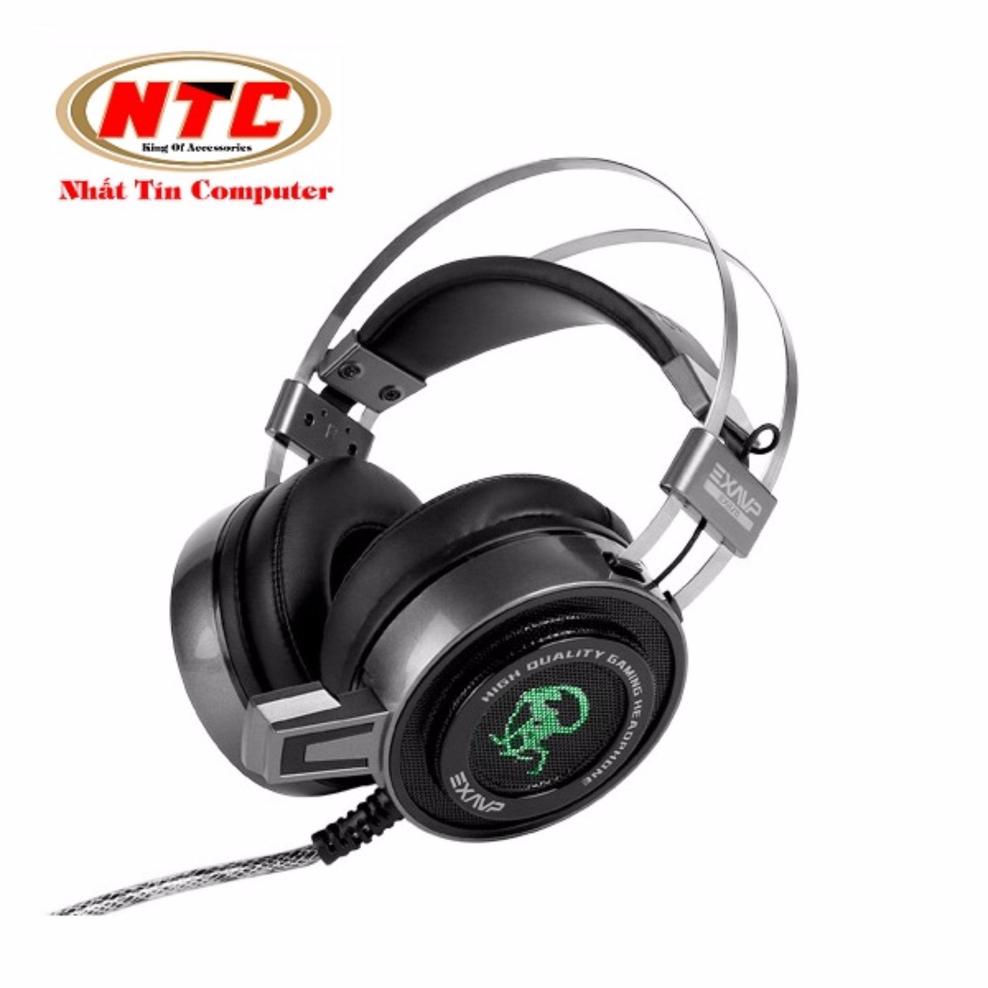 Tai nghe chụp tai chuyên game EXAVP EX820V 7.1 Rung và Led (Đen) – Hãng phân phối chính thức Đang Bán Tại Nhất Tín Computer (Tp.HCM)