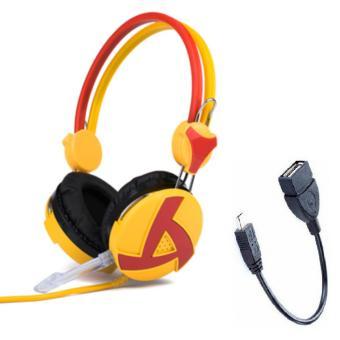 Tai nghe chụp tai có dây kèm micro Zidli Z-129 và tặng Cáp OTG