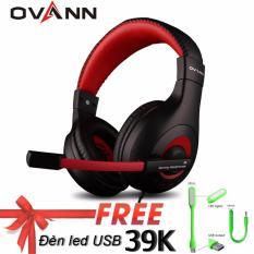 Tai nghe chụp tai Ovann X4 (Đen đỏ) – Hàng nhập khẩu