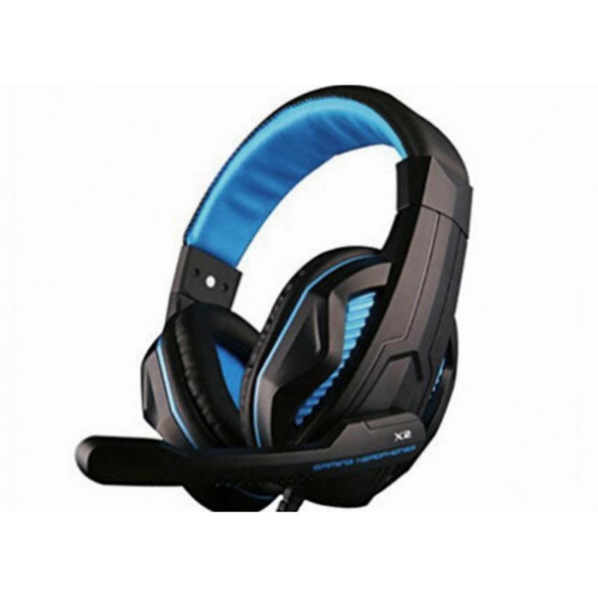 Tai nghe chuyên Game Ovann X2 Pro Gaming có đèn Led (Xanh)