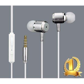 Tai nghe nhét tai cao cấp thời trang R-iLR (màu Trắng Bạc)