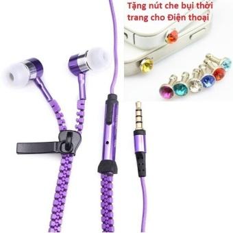 Tai nghe Thời trang Cao cấp Zipper (có khóa kéo chống rối) + TặngNút bịt chống bụi thời trang cho điện thoại - 8401707 , OE680ELAA5PA1JVNAMZ-10457699 , 224_OE680ELAA5PA1JVNAMZ-10457699 , 49600 , Tai-nghe-Thoi-trang-Cao-cap-Zipper-co-khoa-keo-chong-roi-TangNut-bit-chong-bui-thoi-trang-cho-dien-thoai-224_OE680ELAA5PA1JVNAMZ-10457699 , lazada.vn , Tai nghe Thời