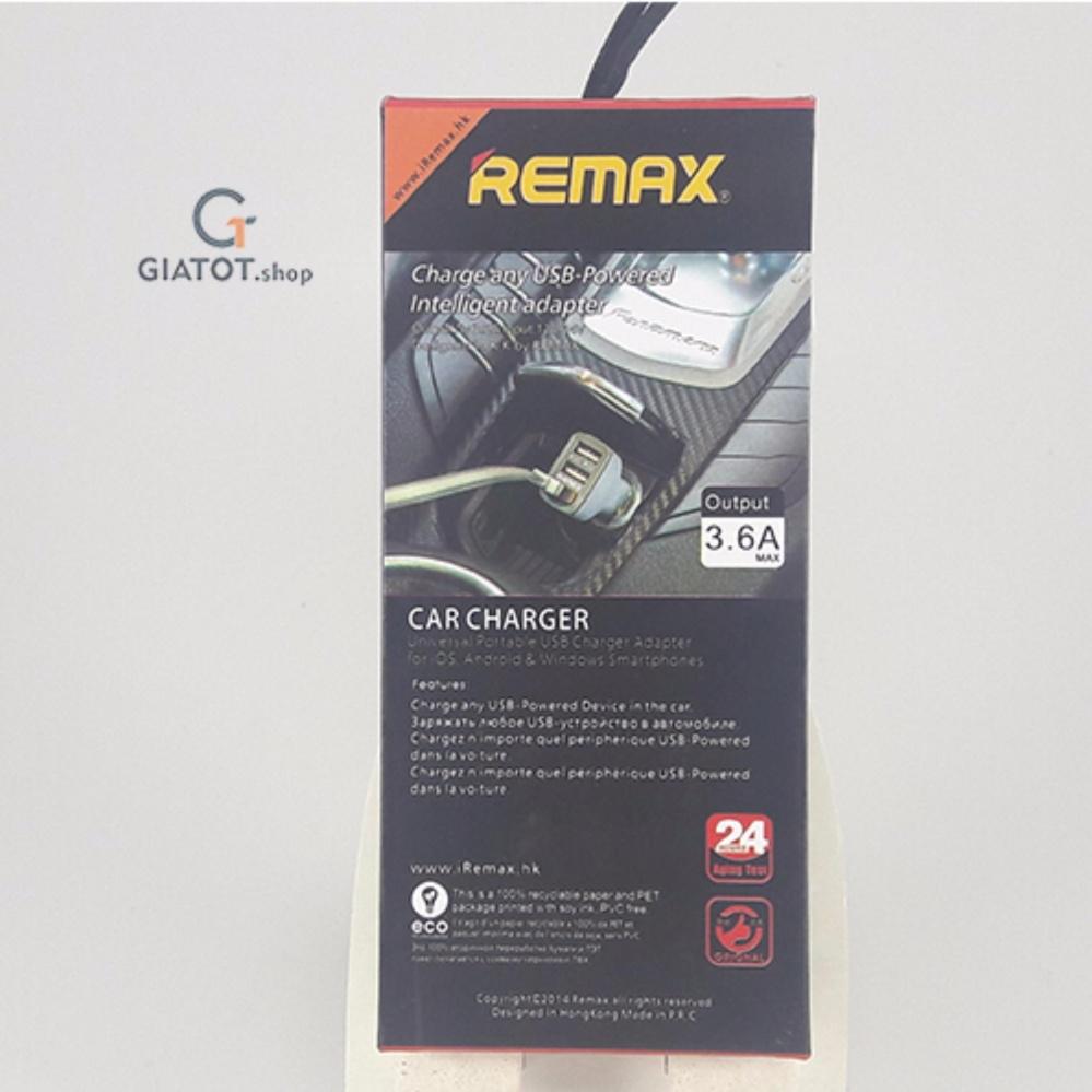 Mua Tu Sc Nhanh T 3 Cng Usb 36a Remax Xn Cc301 Ti Giatot Car Charger Port