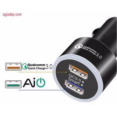 Bảng Giá Tẩu sạc oto Qualcomm QC 3.0 VIP (sạc nhanh tiết kiệm thời gian) Tại Agiadep (Hà Nội)