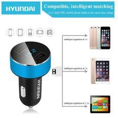 Tẩu sạc oto, xe hơi USB HYUNDAI xịn by Agiadep (có đồng hồ LED điện áp HY36)