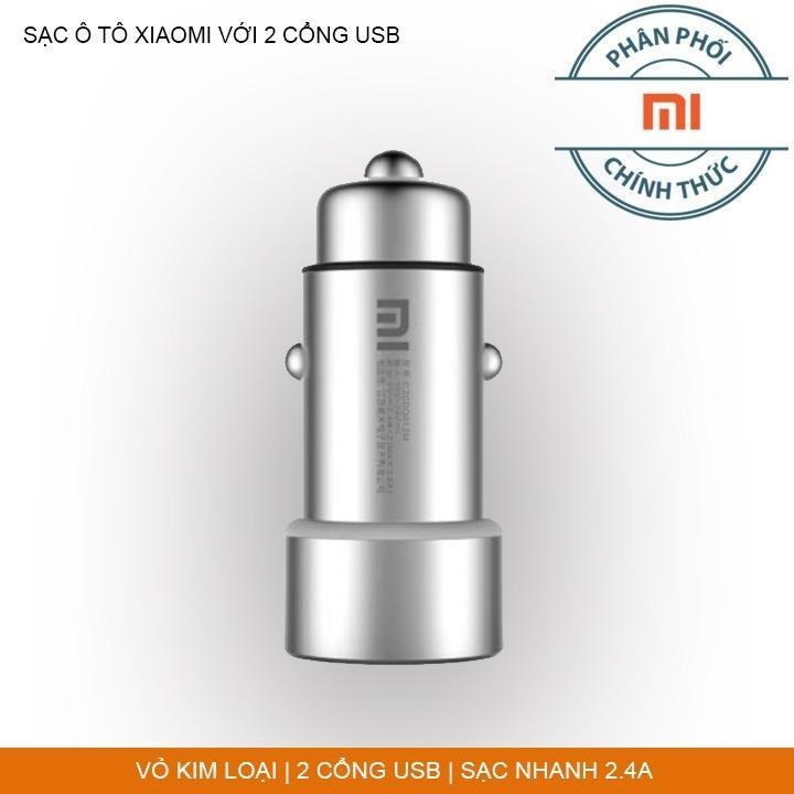 Tẩu Sạc Ôtô Xiaomi Với 2 Cổng USB – Hổ Trợ Sạc Nhanh