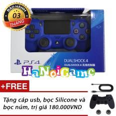 Tay cầm chơi game PS4 Slim/Pro Dualshock 4 (Xanh)