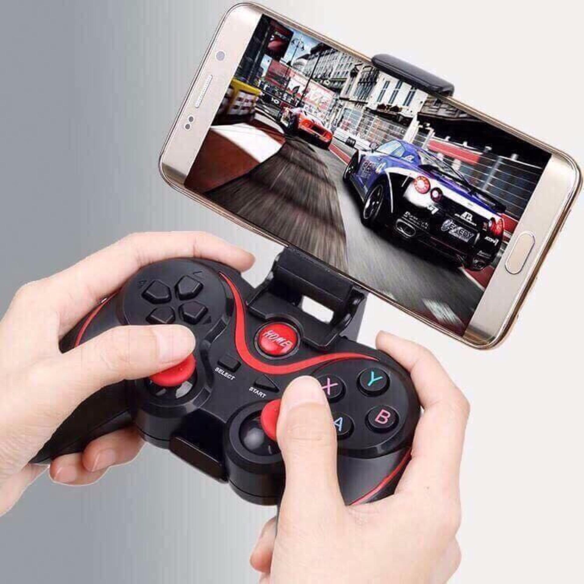 Tay cầm chơi game kèm giá đỡ điện thoại Gamemax Terios T3/X3