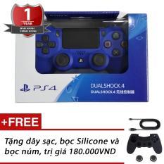 Tay cầm chơi game PS4 Slim/Pro Dualshock 4 (Blue) – Hàng Sony Việt Nam