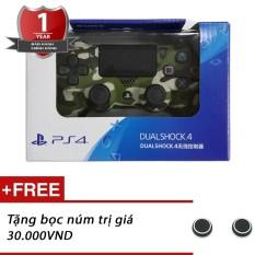 Tay cầm chơi game PS4 Slim/Pro Dualshock 4 Kèm bọc núm (Rằn Ri) – Hàng Sony Việt Nam