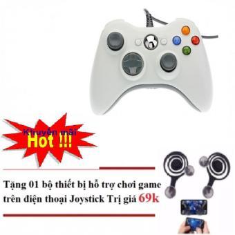Tay cầm chơi game Xbox 360 có dây Tặng nút điều khiển Game