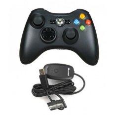 Tay cầm chơi game Xbox 360 Không Dây (Đen)