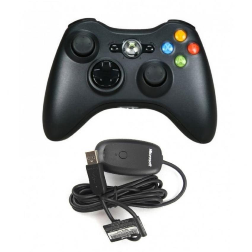 Chỗ nào bán Tay cầm chơi game Xbox 360 Không Dây (Đen)