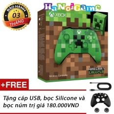 Tay cầm chơi game Xbox One S Minecraft Creeper (nhập khẩu US)