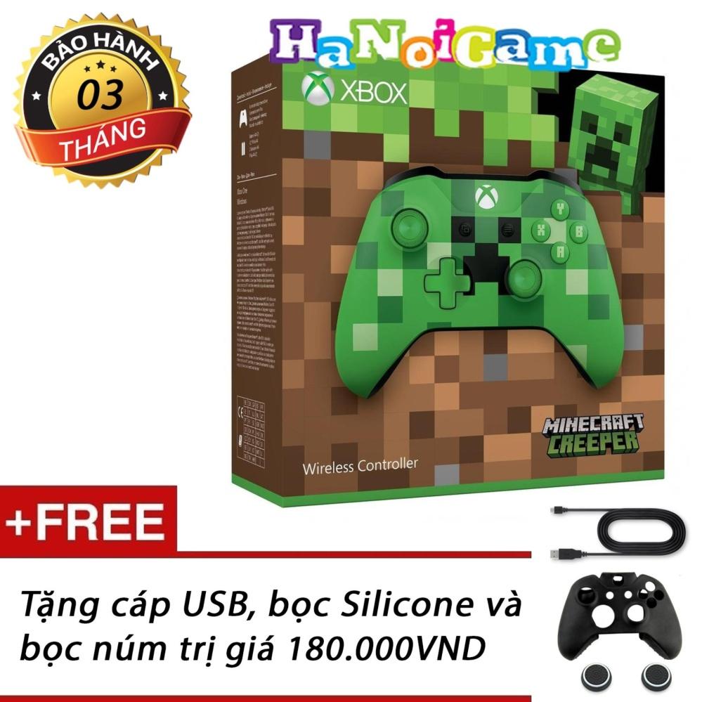 Giảm giá Tay cầm chơi game Xbox One S Minecraft Creeper (nhập khẩu US)