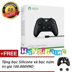 Tay chơi game Xbox One S kèm dây cáp USB (Đen)