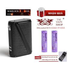Thân - Mod thuốc lá điện tử Vape / Shisha Rofvape Warlock Z-box 233 Box Mod (Đen) + Tặng 2 pin sạc + 1 sạc đôi – Hàng nhập khẩu
