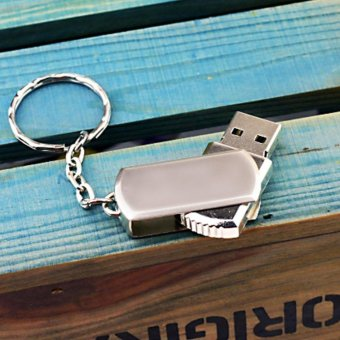 The Metal Usb Flash Drive Custom Logo Pen Drive with Key Chain UsbStick .