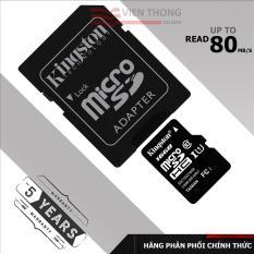 Thẻ nhớ 16gb Kingston Micro SDHC Class10 (Đen) - Hãng phân phối chính thức