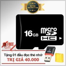 Thẻ nhớ 16GB Micro SDHC class 6 (Đen) + tặng đầu đọc thẻ Micro PT